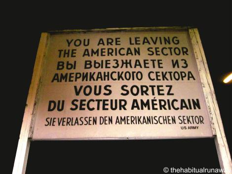 Leaving the American Sector