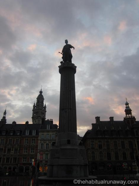 In front of Grand Place, Lille