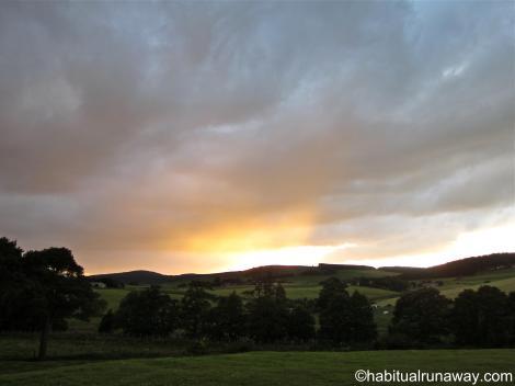 Sunset over Aberdeenshire