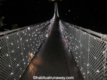 Suspension Bridge Lit Up