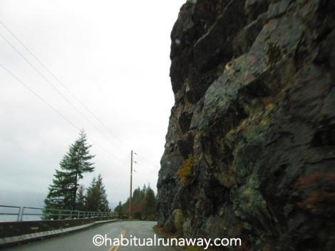 Narrow and Rainy Hwy 4