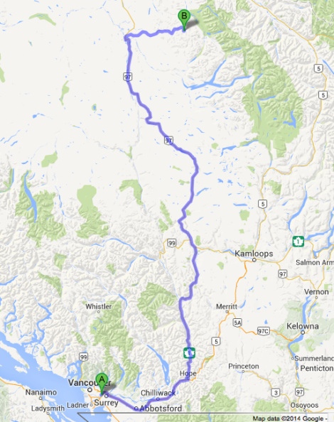 To Barkerville, BC