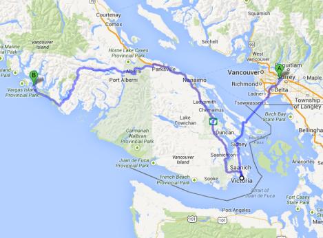 To Victoria & Tofino, Vancouver Island