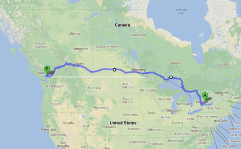 Ontario to BC