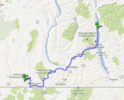 Greenwood to Kaslo