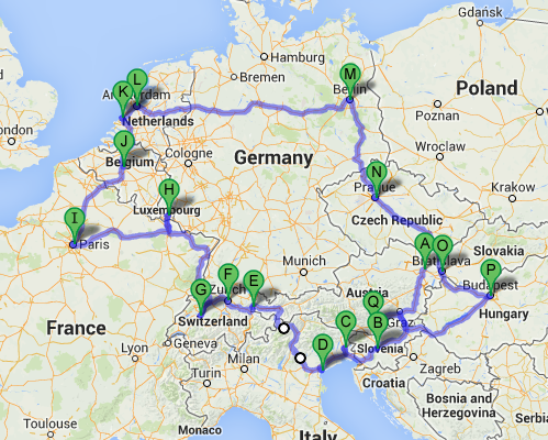 Winter In Europe Habitual Runaway Tours