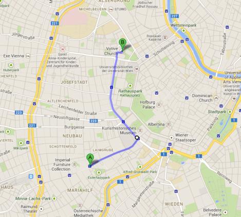 Route To Votivkirche