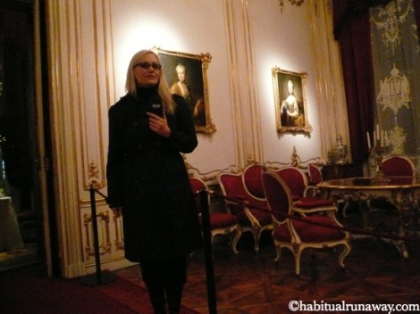Ana in Schonbrunn
