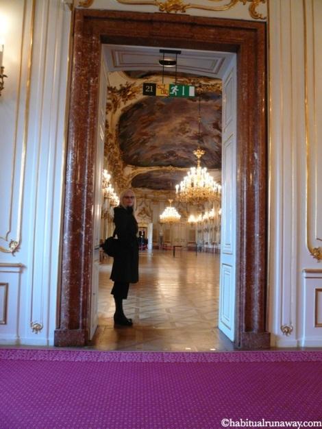 Ana In The Ballroom Schonbrunn