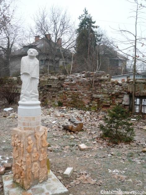Statue Inside Metelkova