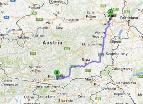 Vienna to Klagenfurt Austria
