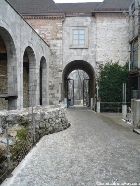 Castle Courtyard Ljubljanski Grad