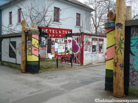 Metelkova Mesto Sign Ljubljana