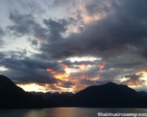 Sunset Howe Sound Sea to Sky BC